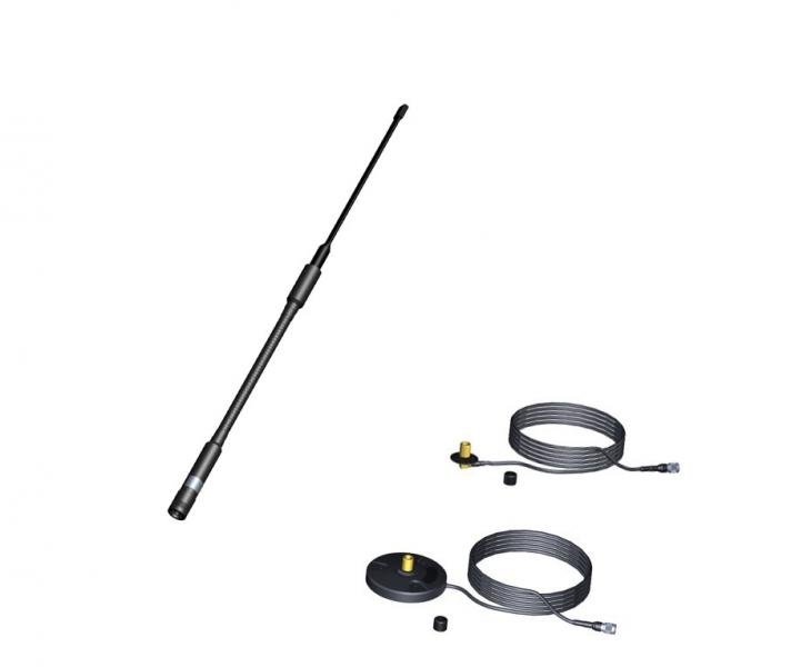 AD-21/2512:  military UHF 225 MHz - 512 MHz wideband low-profile vehicular antenna, manpack antenna