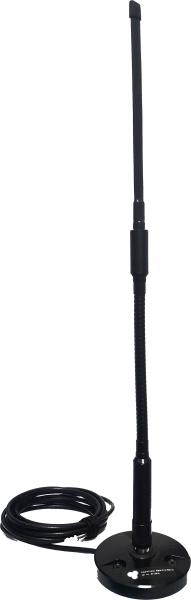 AD-21/2512:  military UHF 225 MHz - 512 MHz wideband low-profile vehicular antenna, manpack antenna with magnet base