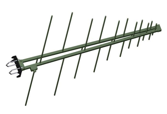 Antenna AD-22/A VHF/UHF log-periodic Tactical Antenna - Ground / Base Station Antenna - Military Jammer - Signal Jamming Antenna