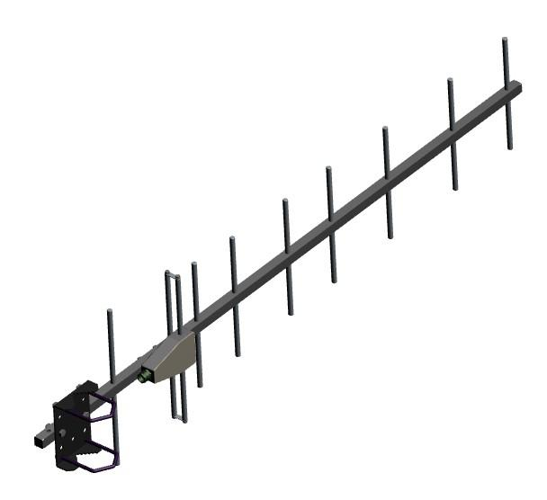 AD-40/07-9: 9-element, 390 MHz - 475 MHz, YAGI, UHF, base station antennas for 0.7 m band