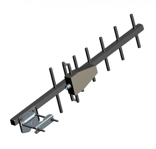 AD-40/35-7 UHF Base Station 7-element Yagi Antenna, 810 MHz - 910 MHz