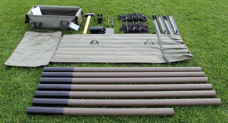 Light Sectionalized Tubular Antenna Masts (5 - 12 m) unpacked