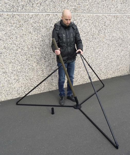 ST-R tripod stand section inserting