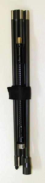 A-7142 -- 2 MHz to 30 MHz, HF sectionalized steel whip manpack / handheld antenna  - folded