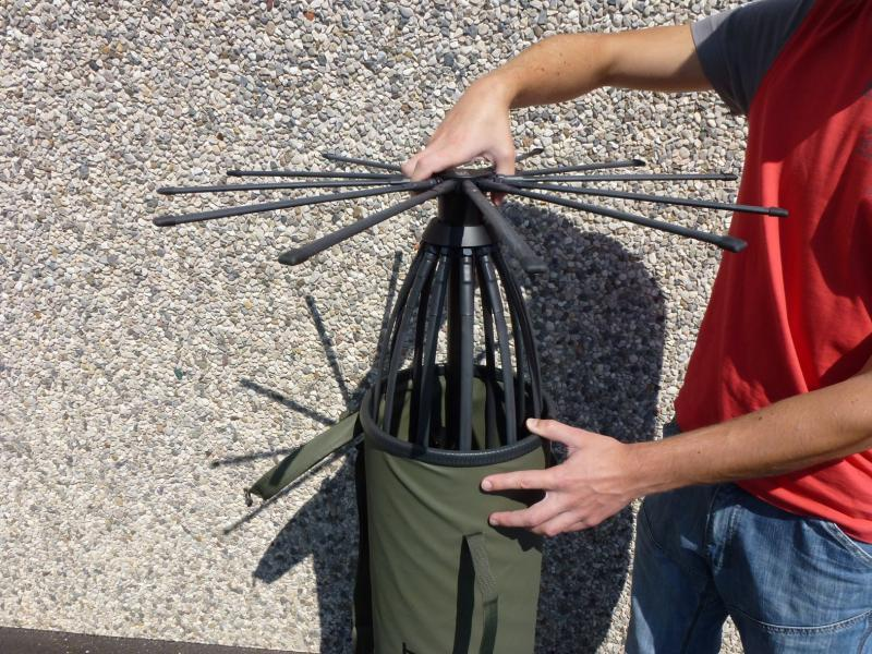 Unpacking Tactical Antenna AD-17/C-1512-F - Military Jammer - Signal Jamming Antenna