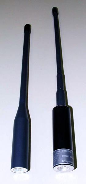 AD-44/BW: 30 MHz - 88 MHz (108 MHz), low band VHF flexible handheld antennas - connector details