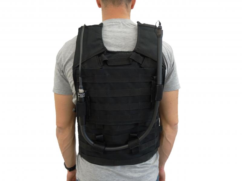 Body Worn Kit on MOLLE jacket