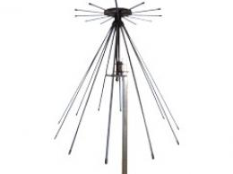 AD-17/C-1512-F: VHF UHF Disc-Cone, 100 MHz - 512 MHz Tactical Antenna - Military Jammer - Signal Jamming Antenna With Flexible Elements