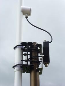 2 MHz -30 MHz HF transceiving self- supporting HF monopole stationary antenna - ground antenna -  base station antenna AD-2 Attachment Part on Mast