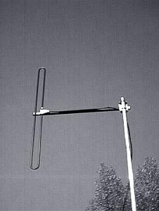 Folded Dipole 68 MHz - 88 MHz, 4 m Band, Low VHF Base Station Antenna - Stationary Antenna  AD-39/4 on mast